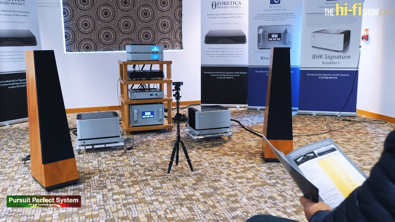 PS Audio Theoretica Applied Physics BACCH-SP 3D stereo sound technology  demo @ hi-fi Show Live 2018