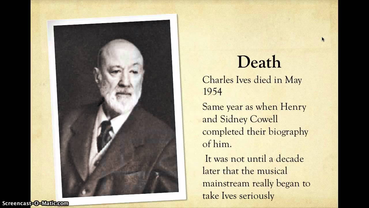 a biography of charles ives Charles ives was the son of george ives, a us army bandleader in the american civil war, and his wife mary parmelee a strong influence of charles's may have been sitting in the danbury town square, listening to his father's marching band and other bands on other sides of the square simultaneously.