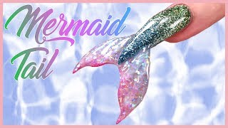 Mermaid Nail Design | Acrylic Nail Art