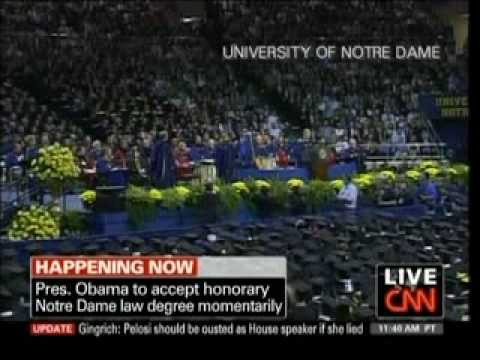 President Obama Gets Honorary Degree - NDU - 05-17-09