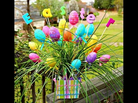 70 awesome outdoor easter decorations 2015 youtube for Decoration jardin paques
