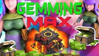 "CLASH OF CLANS - $1300! GEMMING TO MAX TOWN HALL 10 / GEM SPREE! ""ARCHER QUEEN + FUNNY MOMENTS"" EP14"