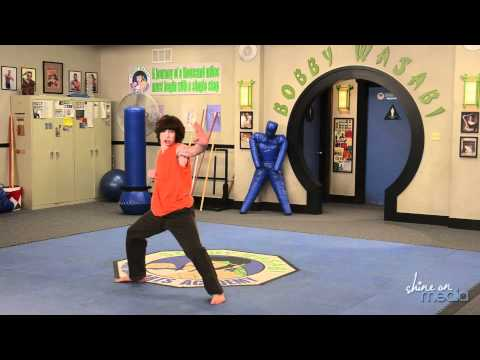 Leo Howard Karate Demonstration on Set