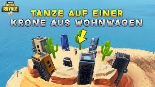 FORTNITE: TANZE AUF EINER KRONE AUS WOHNWAGEN (Season 7 Herausforderung) Deutsch