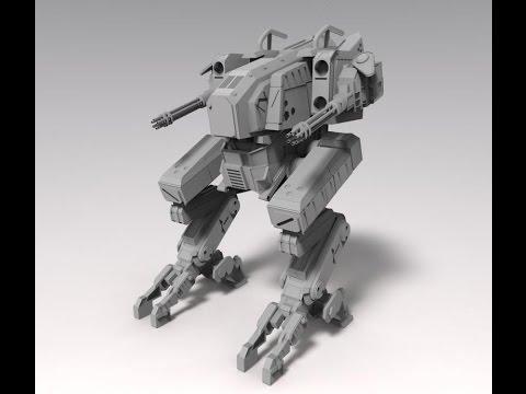 Blender 3D|Speed modeling|Model robot|Part 1|