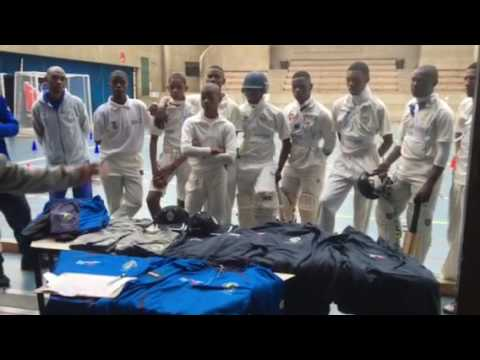 Cricket School of Excellence Australian Aid program clothing hand over 14 September 2016