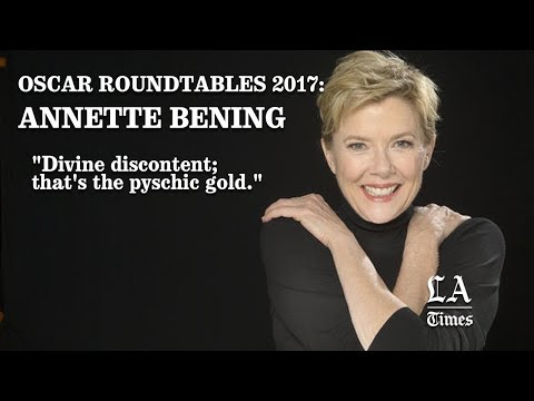"Annette Bening ""Divine Discontent; That's The Pyschic Gold."" Los Angeles Times"