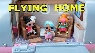 LOL SURPRISE DOLLS Return Home On Airplane From Hawaii Vacation!