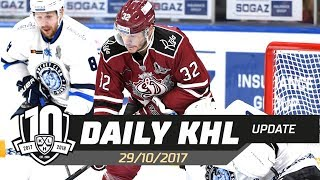Daily KHL Update - October 29th, 2017 (English)
