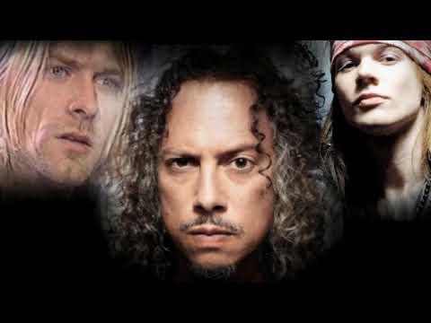 """Kirk Hammett on Kurt Cobain / Axl Rose Fight @ 1992 MTV Music Awards, """"A weird f***ing place to be"""""""