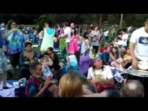Drumming Circle and Fireworks by Greenbelt Lake, Greenbelt, Maryland, July 4, 2014
