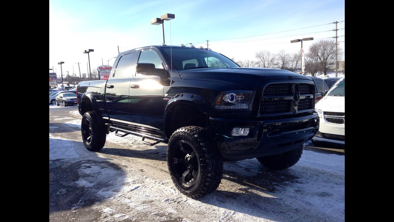 dodge trucks 2014 diesel lifted. interior lifted u0026 customized 2014 ram 2500 laramie crew maciver dodge jeep newmarket ontario youtube trucks diesel r