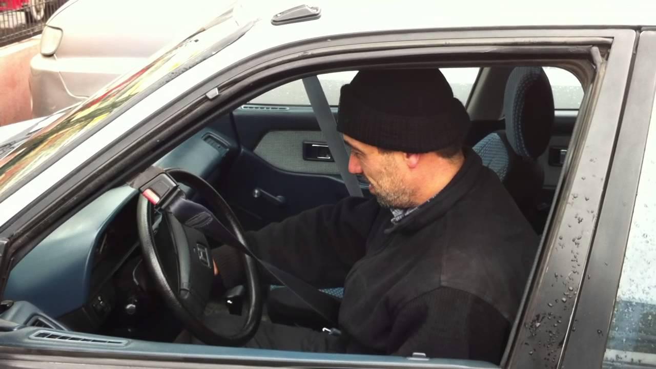 FUNNY  1990 Honda Civic automatic seat belt  YouTube