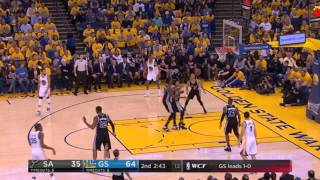 LaMarcus Aldridge's closeout on Kevin Durant - Spurs Warriors Game 2 WCF 2017