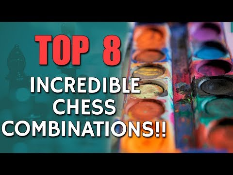 8 Incredible🔝Chess Combinations 🎨 with GM Eugene Perelshteyn