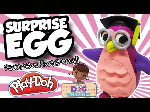 Play-Doh Surprise Egg!! DOC McSTUFFINS' Professor Hootsburgh! With Lambie