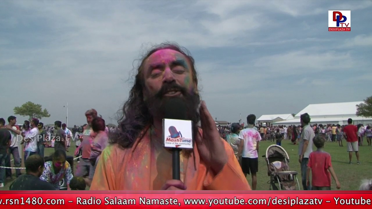 Swami Mukundananda rejoices by the Holi Celebrations at RadhaKrishna Temple || DesiplazaTV