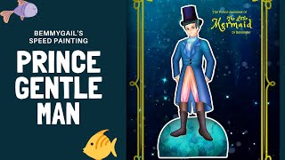 The Little Mermaid Prince Speed Painting Paper Doll 1830 Fashion Gentleman Outfit