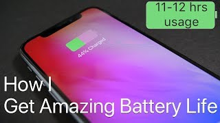 How I Get Amazing iPhone Battery Life
