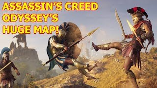 Here's How Big Assassin's Creed Odyssey's Map Is (Huge World)