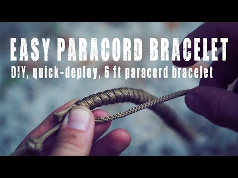 Paracord Bracelet: Easy, Simple Deploy with 6' of Paracord |
