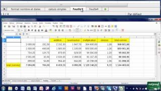 16 - Copier coller des données d'une feuille de calculs sur une autre dans Calc
