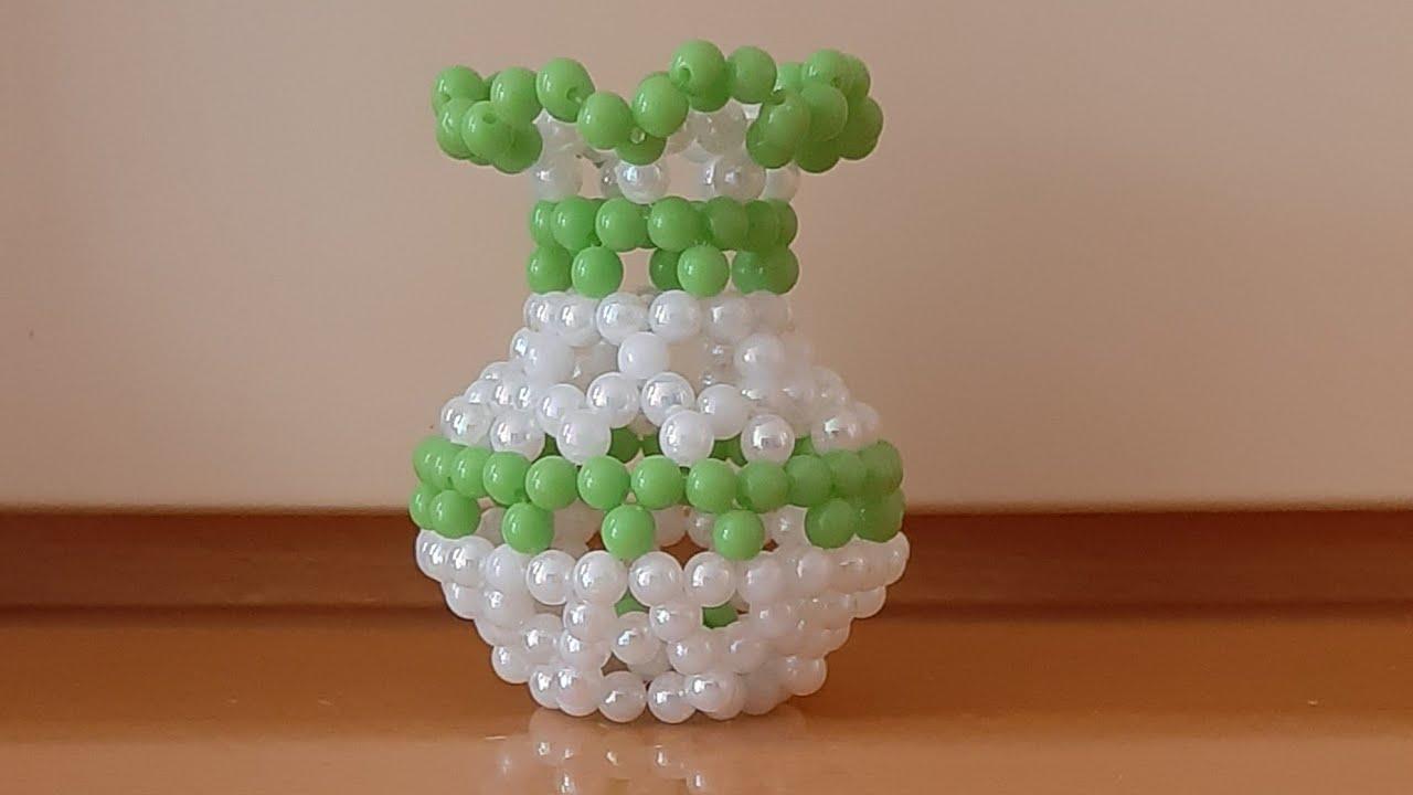 Download Making beads flower vase, part 1 🤩🤩🤩