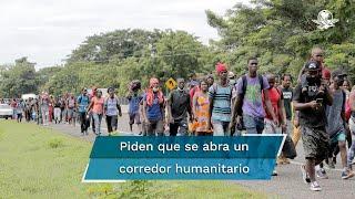 Haitianos, cubanos, venezolanos, africanos y asiáticos se acumulan en el poblado colombiano de Necoclí, que ya se ve rebasado,  en busca de pasar a Centroamérica