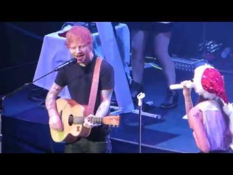 "Ed Sheeran & Christina Perri ""Be My Forever"" Live at Alice In Winterland 2014"