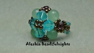 Elegant Beaded Ring Tutorial