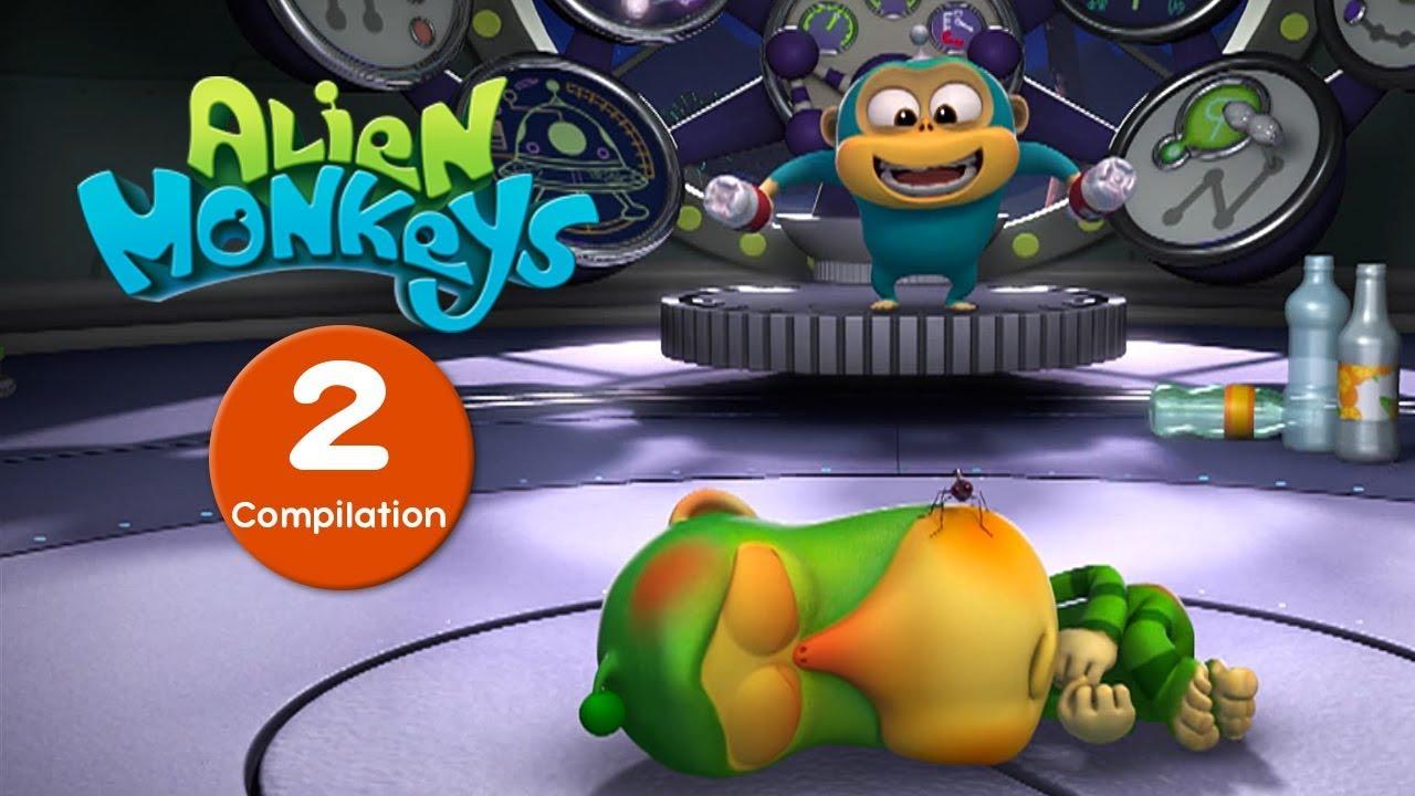 Download Funny Animated Cartoon - Alien Monkeys - Episodes 11-20 - Cartoons For Children