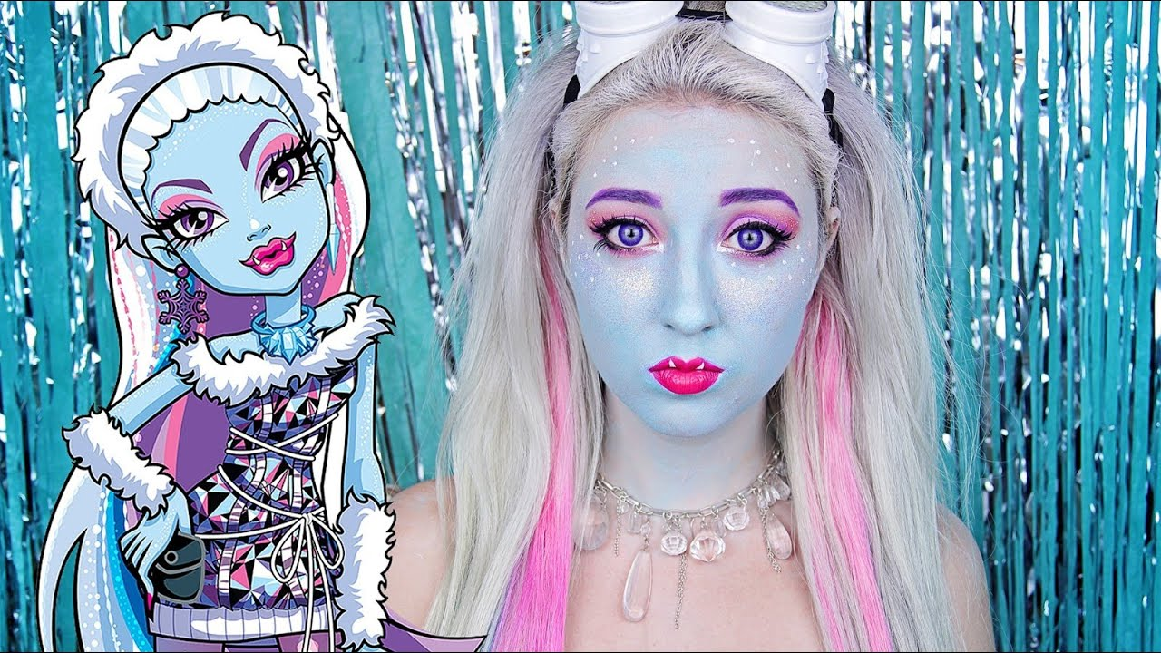 Uncategorized Monster High Abby abbey bominable monster high makeup tutorial youtube