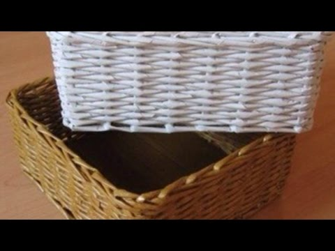 How To Construct a Lovely Newspaper Basket - DIY Home Tutorial - Guidecentral