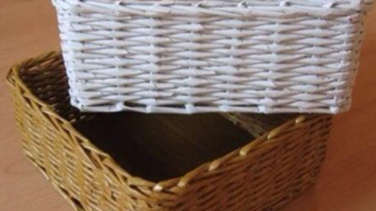36 tutorials for weaving a basket out of newspaper | guide patterns.
