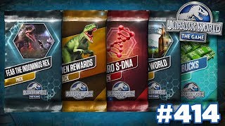 OPENING AS MANY PACKS AS POSSIBLE!!! | Jurassic World - The Game - Ep413 HD