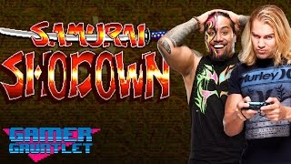 Jimmy Uso & Tyler Breeze kick off Best-of-3 w/ Samurai Shodown! — Gamer Gauntlet