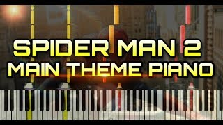 Download lagu Spider Man 2 Main Theme - Piano tutorial syunthesia