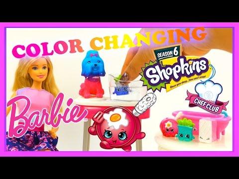 Barbie Color Me Cute Playset + Shopkins...