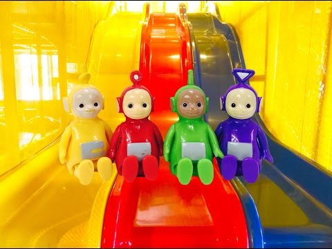TELETUBBIES TOYS Slides and Tunnels PLAYPLACE Fun!