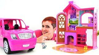 Видео для девочек - Маша строит дом для кукол Барби