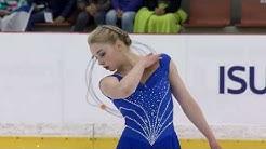 Viveca LINDFORS FIN    Ladies Free Skating RIGA 2017