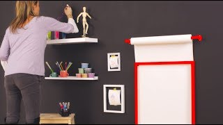 How to make an arts and crafts wall for your child