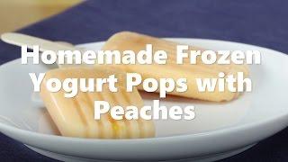 Homemade Frozen Yogurt Pops with Peaches