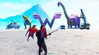 Obter dinossauros insanos e itens mais inéditas no Fortnite Creative (glitch)