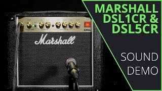 Marshall DSL1CR & DSL5CR Sound Demo (no talking)
