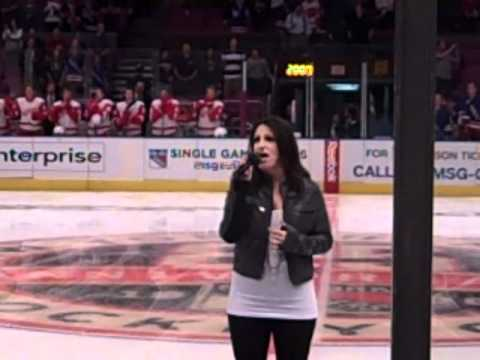 Leslie DiNicola Performing National Anthem at Madison Square Garden
