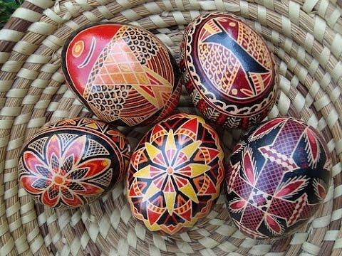 Яйца крашенные восковыми