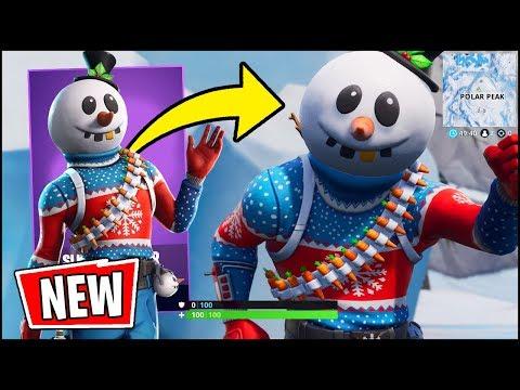*NEW* Fortnite SNOWMAN Skin Gameplay - THE BEST NEW SKIN (Slushy Soldier)