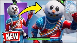 *NEW* Fortnite SNOWMAN Skin Gameplay - THE BEST NEW SKIN (Slushy Soldier)