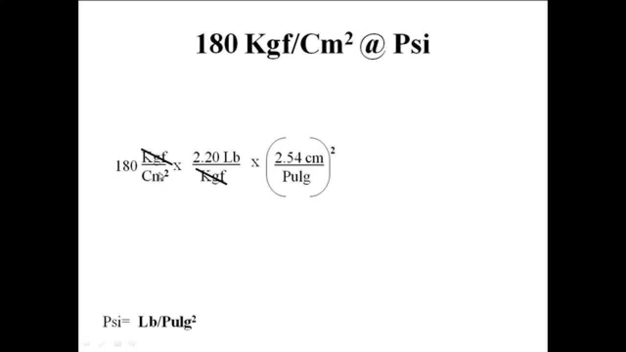 Convertir de kgf cm2 a psi youtube - Convertir kg en m3 ...